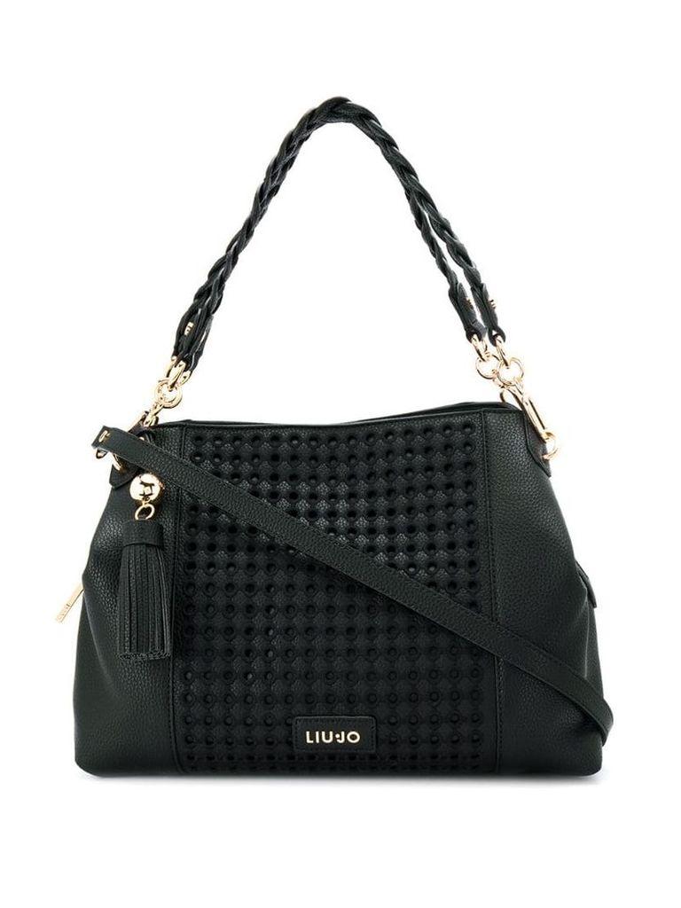 Liu Jo embroidered tote bag - Black