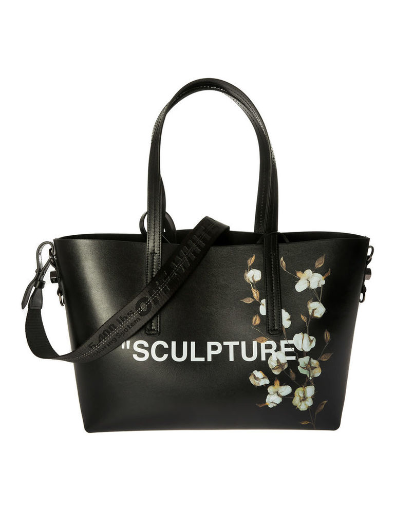 Off-white Sculpture Flower Tote