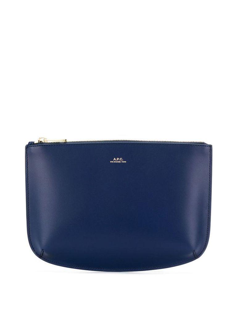 A.P.C. Sarah clutch bag - Blue