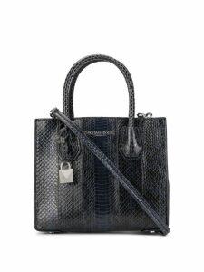 Michael Michael Kors Mercer snakeskin crossbody bag - Blue
