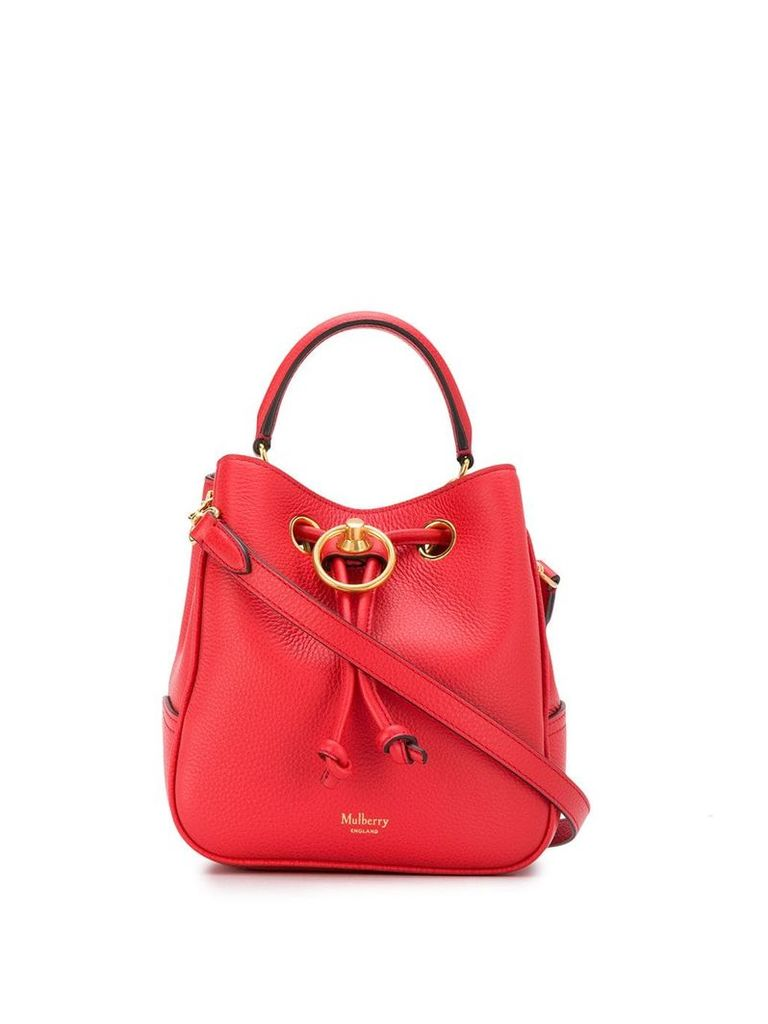 Mulberry small Hampstead bucket bag - Red