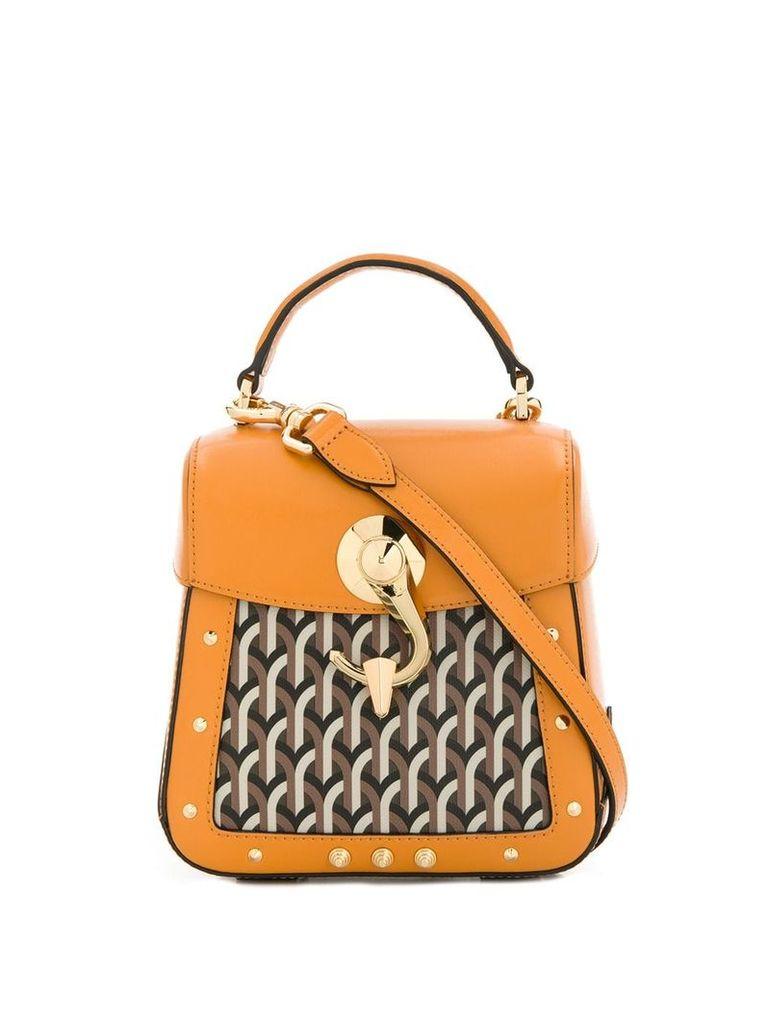 Dell' Est Trunkino square crossbody bag - Yellow