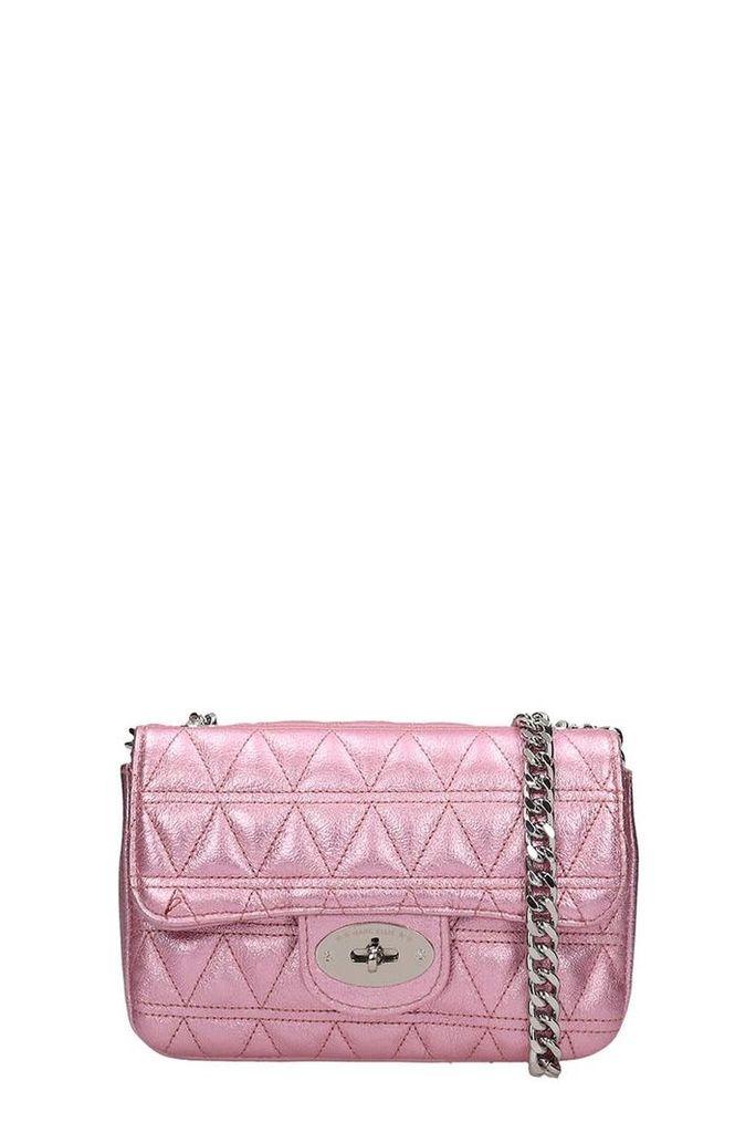 Marc Ellis Pink Quilted Leather Pilar S Bag