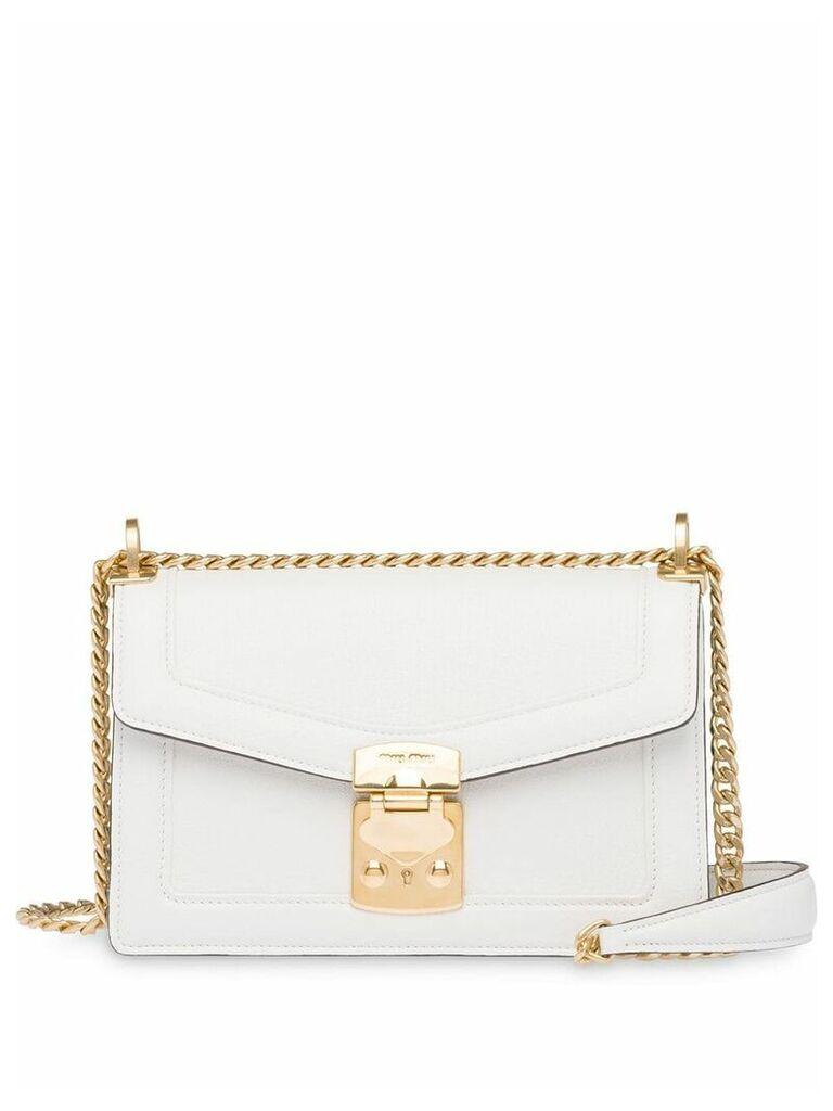Miu Miu Miu Confidential shoulder bag - White