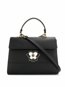 Furla butterfly plaque tote bag - Black