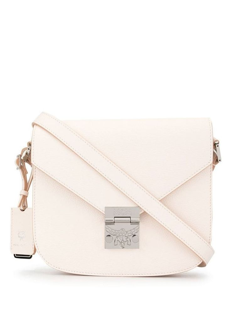 MCM foldover top bag - White