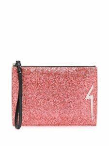 Giuseppe Zanotti G-glitter clutch - Pink