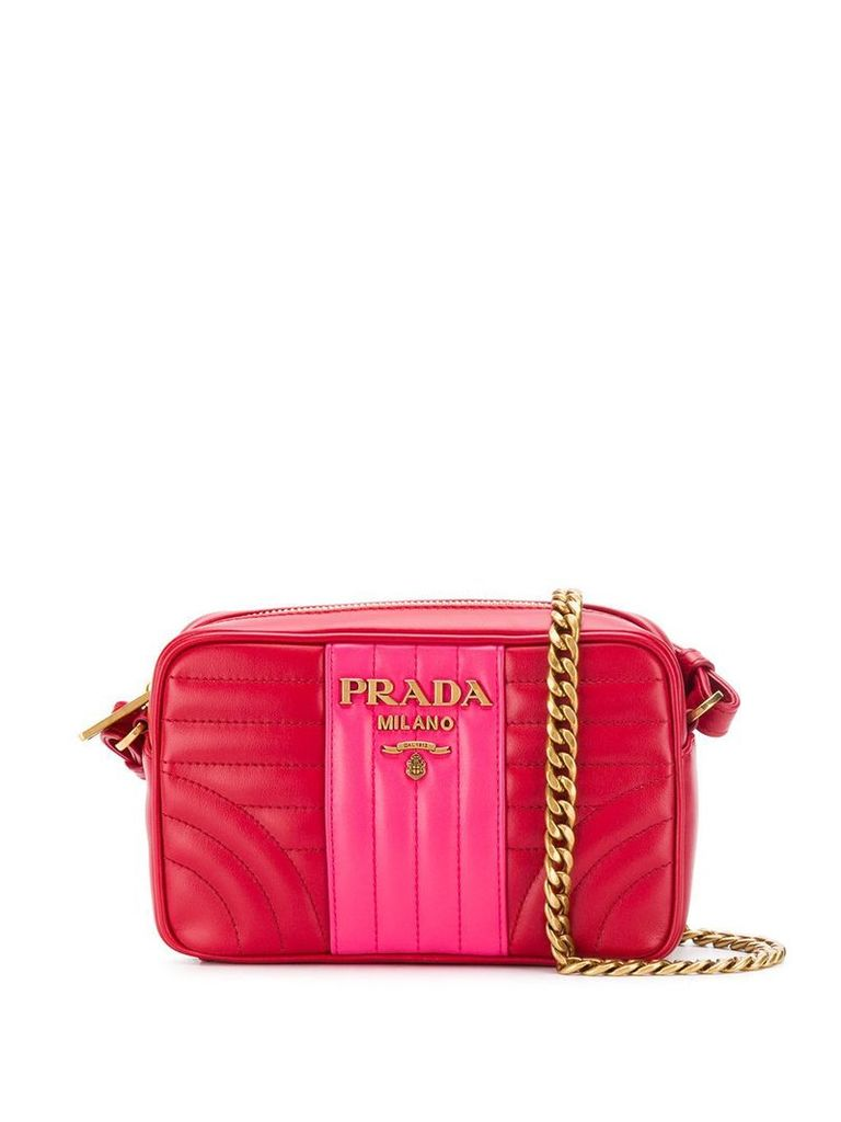 Prada Diagramme small shoulder bag - Red