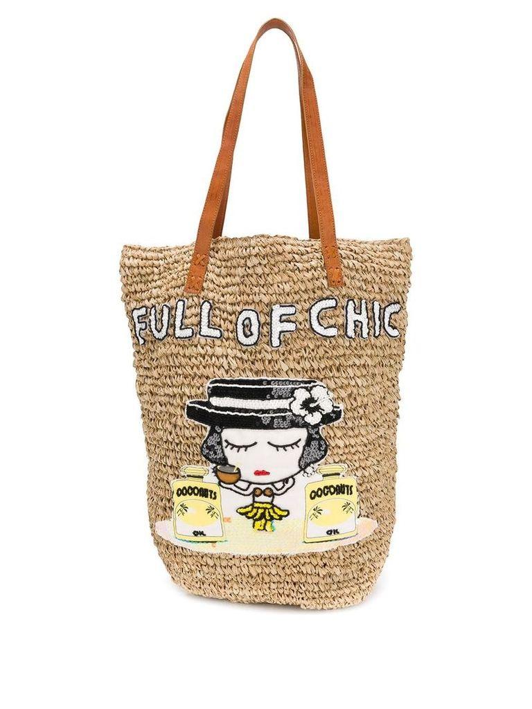 Mua Mua 'Chic' tote bag - Neutrals