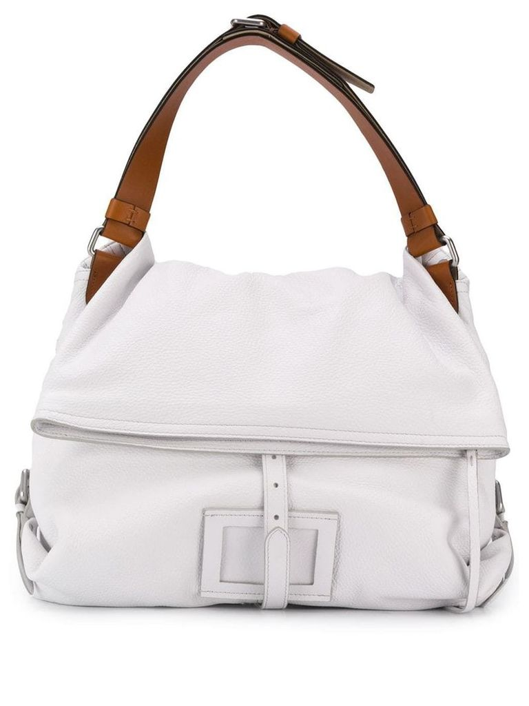 Maison Margiela logo patch large tote bag - White