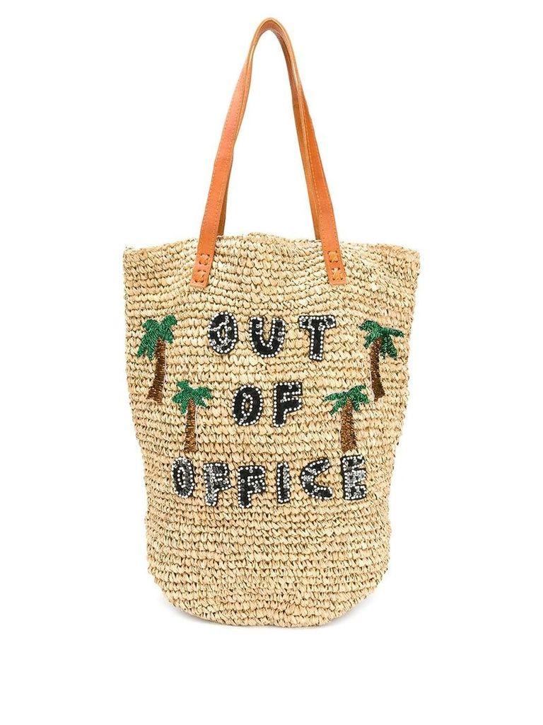 Mua Mua 'Out of Office' tote bag - Neutrals