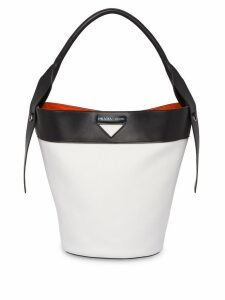 Prada Prada Ouverture canvas and leather bag - White
