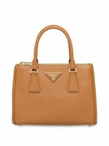 Prada galleria mini saffiano tote bag - Brown