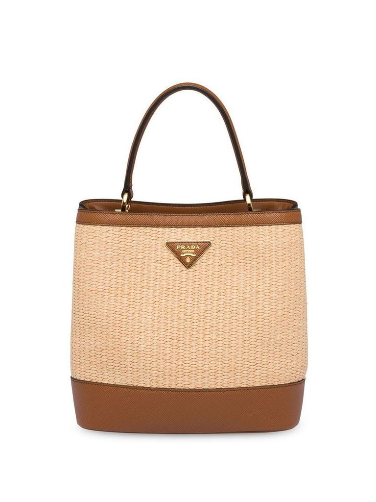 Prada Panier medium bag - Neutrals