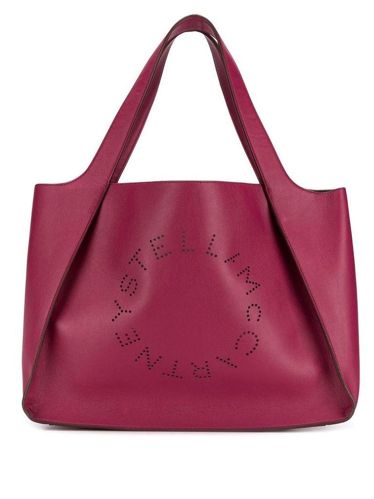 Stella McCartney Stella logo tote bag - Red