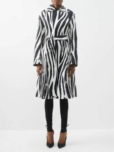 Craig Green - Floral Print V Neck Striped Jacquard Sweatshirt - Womens - Blue Multi