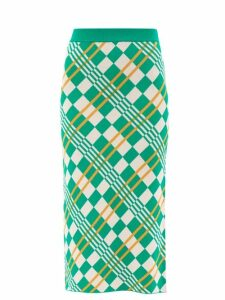 Dodo Bar Or - Stella Horsebit Buckle Leather Midi Skirt - Womens - Black
