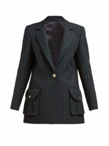 Blazé Milano - Timeless Checked Wool Tweed Blazer - Womens - Green Multi
