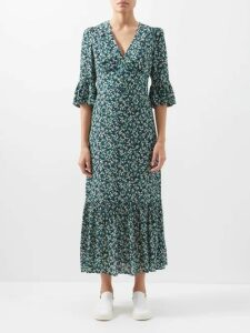Raey - V Neck Fine Knit Cashmere Sweater - Womens - Fuchsia