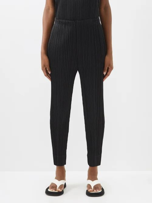Staud - Sur Linen Blend Mini Dress - Womens - Light Blue