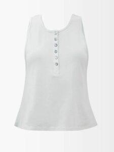 Loewe - Asymmetric Slim Fit Wool Blazer - Womens - Black White