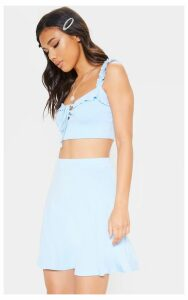 Light Blue Skater Skirt, Light Blue