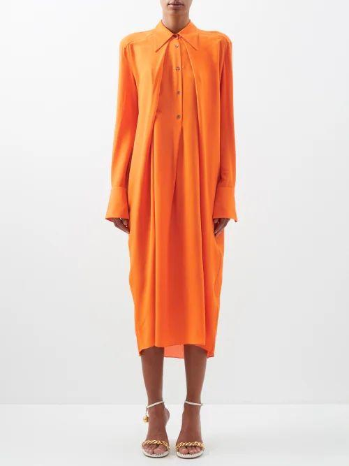 Gucci - Gg Buttoned Denim Skirt - Womens - Denim