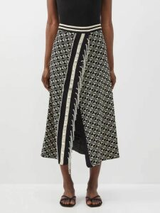By Walid - Tanita Peacock-embroidered 19th-century Silk Coat - Womens - Yellow Multi