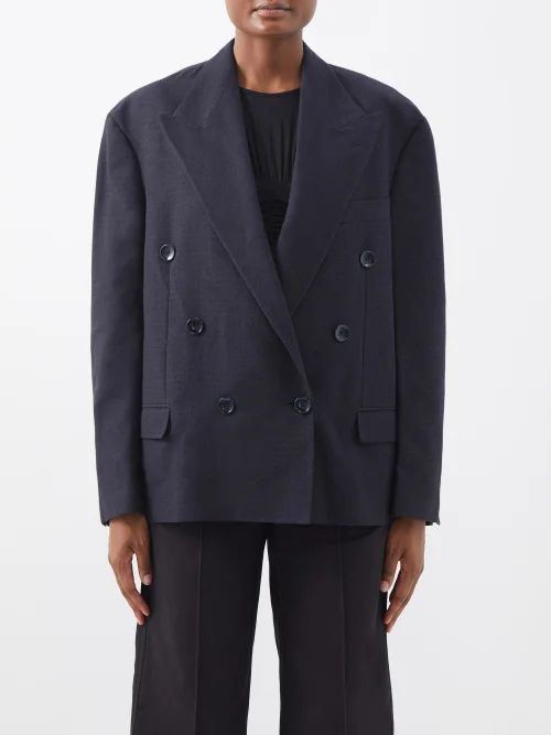 Norma Kamali - Tiered Fringe Stretch Jersey Pencil Skirt - Womens - Pink