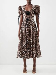 Horror Vacui - Hilaria Strawberry And Polka Dot Cotton Maxi Dress - Womens - White Multi