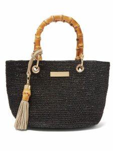 Heidi Klein - Savannah Bay Mini Raffia Tote Bag - Womens - Black