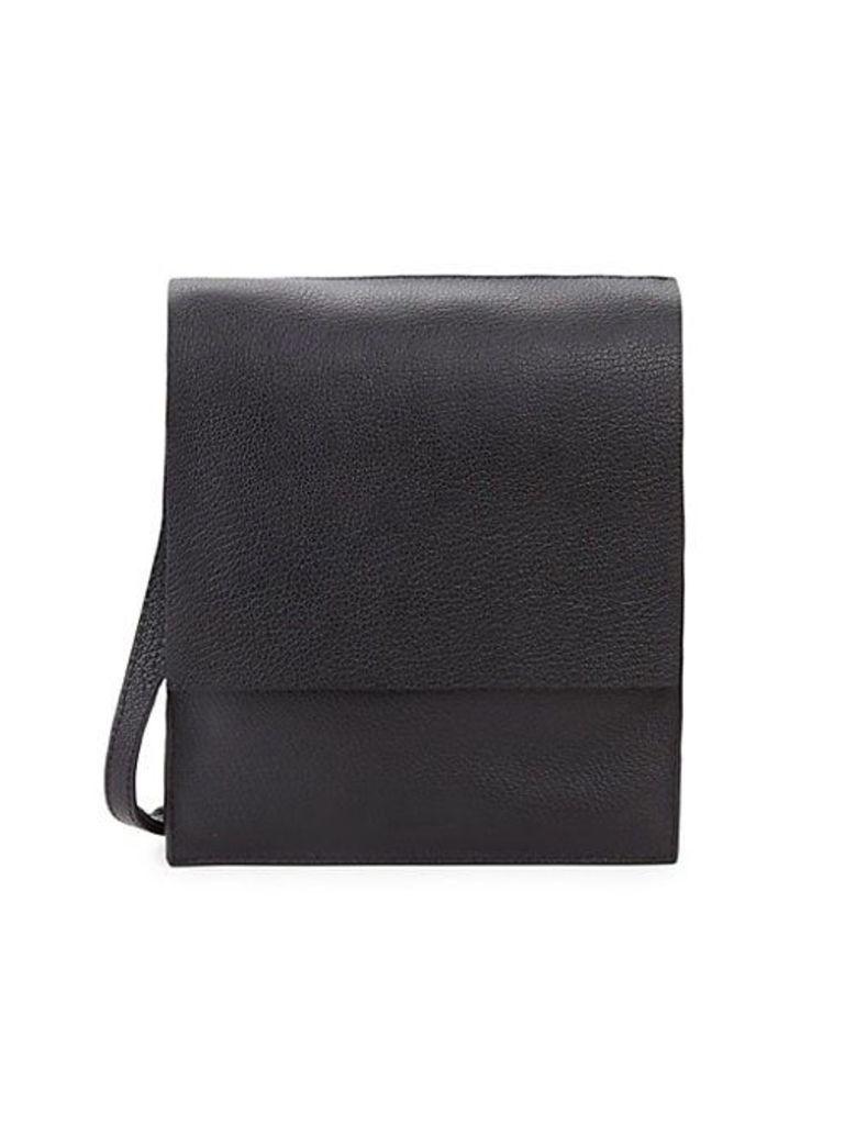 Martin Flap Leather Crossbody Bag