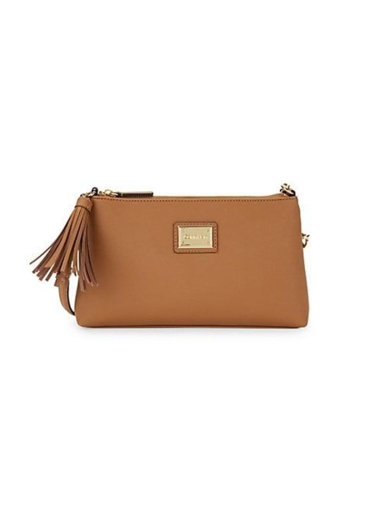 Tassel & Chain Strap Crossbody Bag