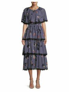 Floral Tiered Midi Dress