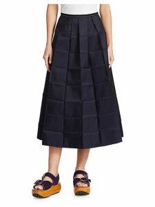 Pressed Midi Skirt