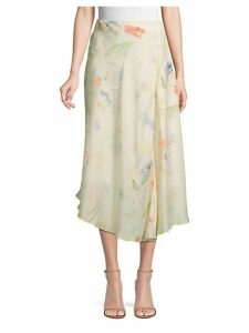 Dessie Printed Silk Midi Skirt