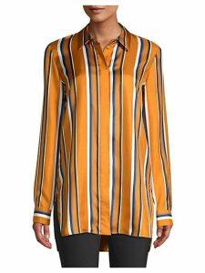 Barry Multi-Stripe Silk Blouse