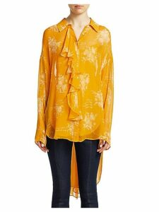 Eden Silk High-Low Blouse