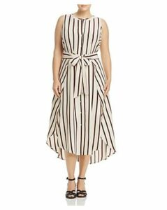 Vince Camuto Plus Caravan Stripe Midi Dress