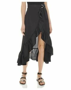 Sandro Ilona Ruffled Midi Skirt