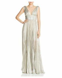 Maria Lucia Hohan Riley Pleated Metallic Gown