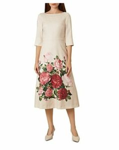 Hobbs London Princess Rose Floral Midi Dress