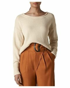 Whistles Rolled-Edge Sweater