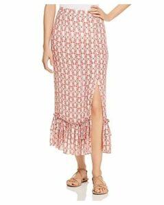 Paloma Blue Skye Button-Front Skirt