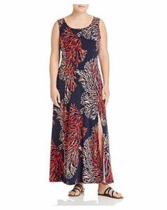 Michael Michael Kors Plus Tahitian Reef Printed Maxi Dress
