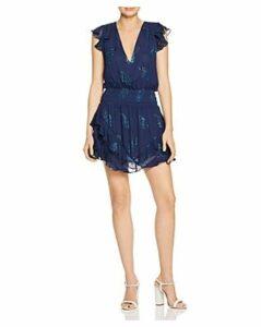 Ramy Brook Simone Leaf-Print Mini Dress