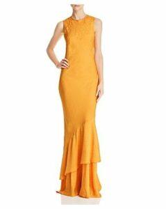 Rebecca Vallance Isobella Tonal-Leopard-Print Dress