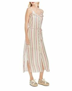 Vince Camuto Canyon Stripe Sleeveless Linen Maxi Dress