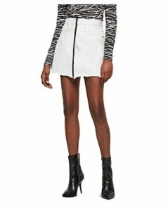 Allsaints Lomo Zip Denim Skirt