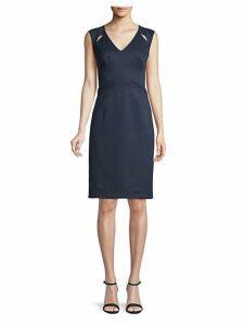 Shoulder Cut-Out Sheath Dress